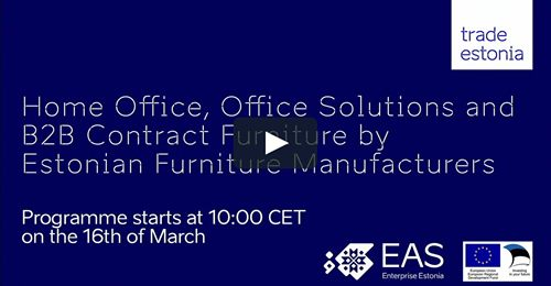 Sales Webinar by 7 Estonian Manufacturers of Home Office Furniture