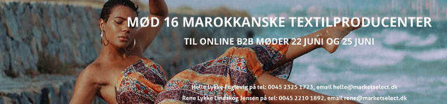 Meet 20 Moroccan Textile Manufacturers for online B2B Meetings on June 22nd and 25th